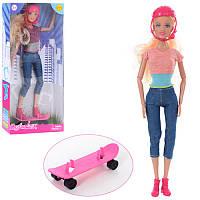 Кукла DEFA 8375 шарнирная, 29см, скейт, шлем, 2вида, в кор-ке, 15-32,5-5,5см