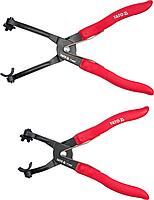 Щипцы для шлангов и проводов, набор 2 шт, YATO
