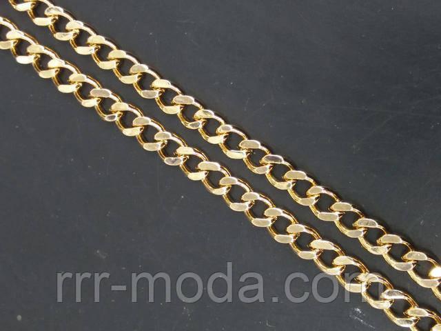 Позолоченные мужские украшения на шею, мужские широкие цепочки под золото оптом.
