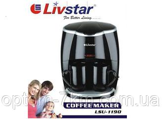 Кофеварка на 2 Чашки Livstar 1190