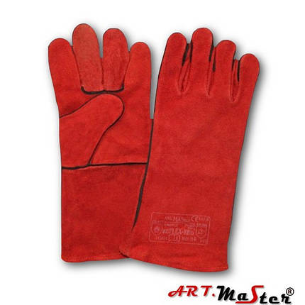 Рукавички для зварювальних робіт Reflex-RED з ялової шкіри - Art.Master ,червоного кольору p. 11, фото 2