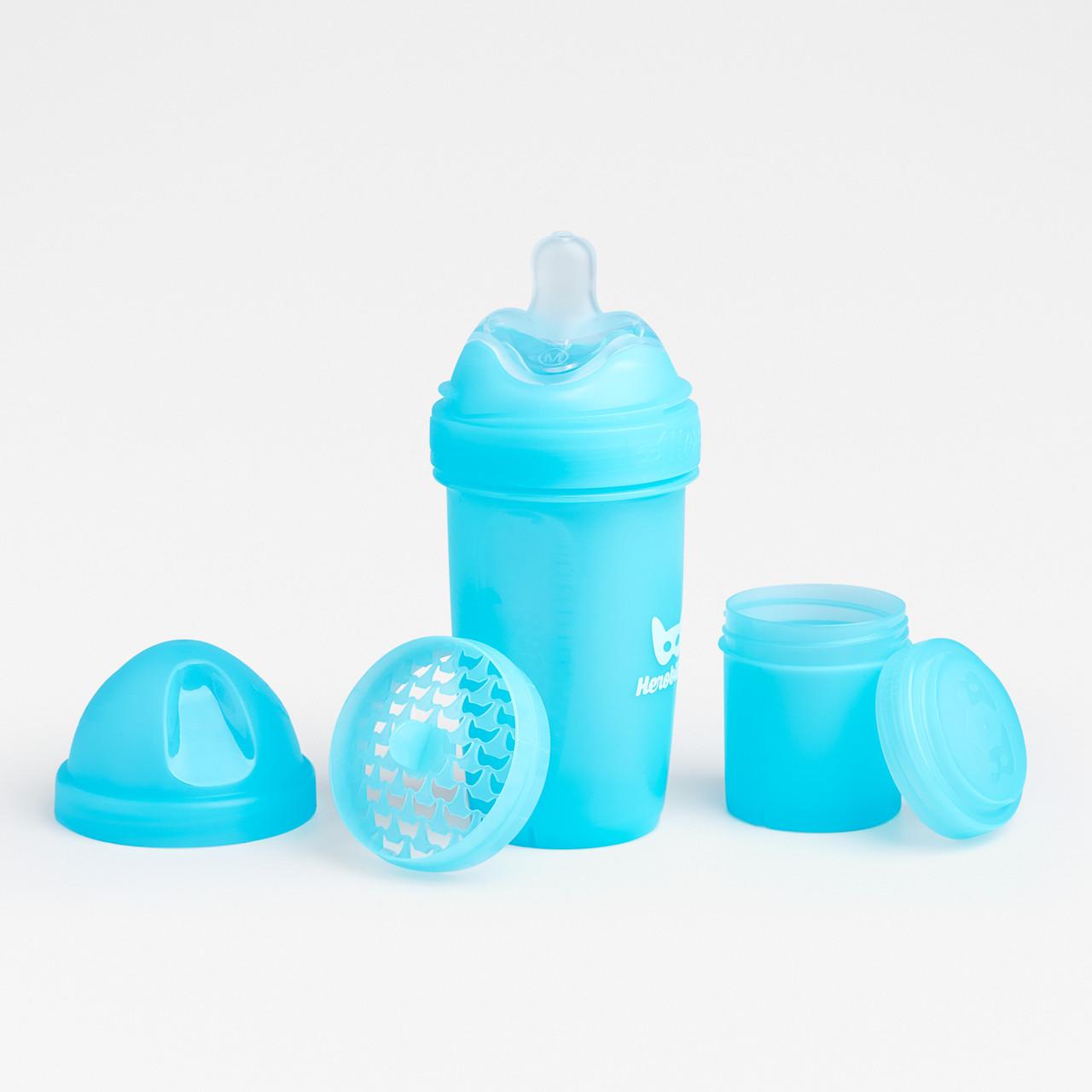Herobility - Бутылочка Herobottle 240 ml, цвет голубой