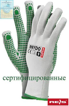 Защитные перчатки из нейлона с точечным покрытием с одной стороны RNYDO WZ