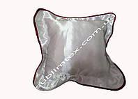 Подушка атласная,натуральный наполнитель,метод печати сублимация,размер 35х35см,цвет Каймы бордовый