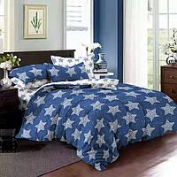 Двуспальные комплект постельного белья 180х220 из сатина Звёздочки