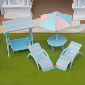 Набір пляжних меблів Happy Family 012-12B (аналог Sylvanian Families), фото 2