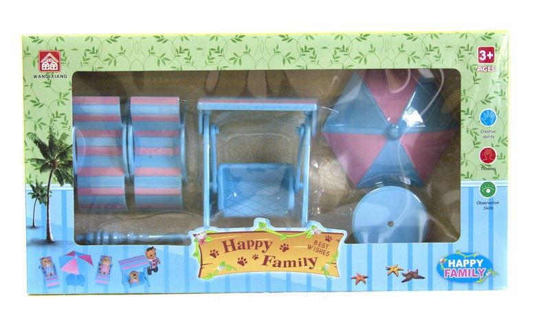 Набір пляжних меблів Happy Family 012-12B (аналог Sylvanian Families)