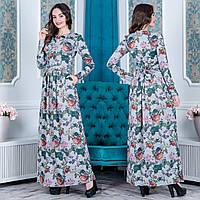 """Трикотажное длинное женское платье """"Маргарита"""", фото 1"""