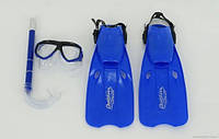 Набор для плавания 0805 М салатовый /36-38/ (48/2) /маска, трубка, ласты