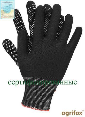 Перчатки изготовлены из полиэстера с точечно-сторонний OX-DOTUA BW