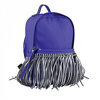 Рюкзак синего цвета в бахромой 1Вересня арт. 554195