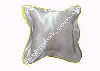 Подушка атласная,натуральный наполнитель,метод печати сублимация,размер 35х35см,цвет Каймы желтый