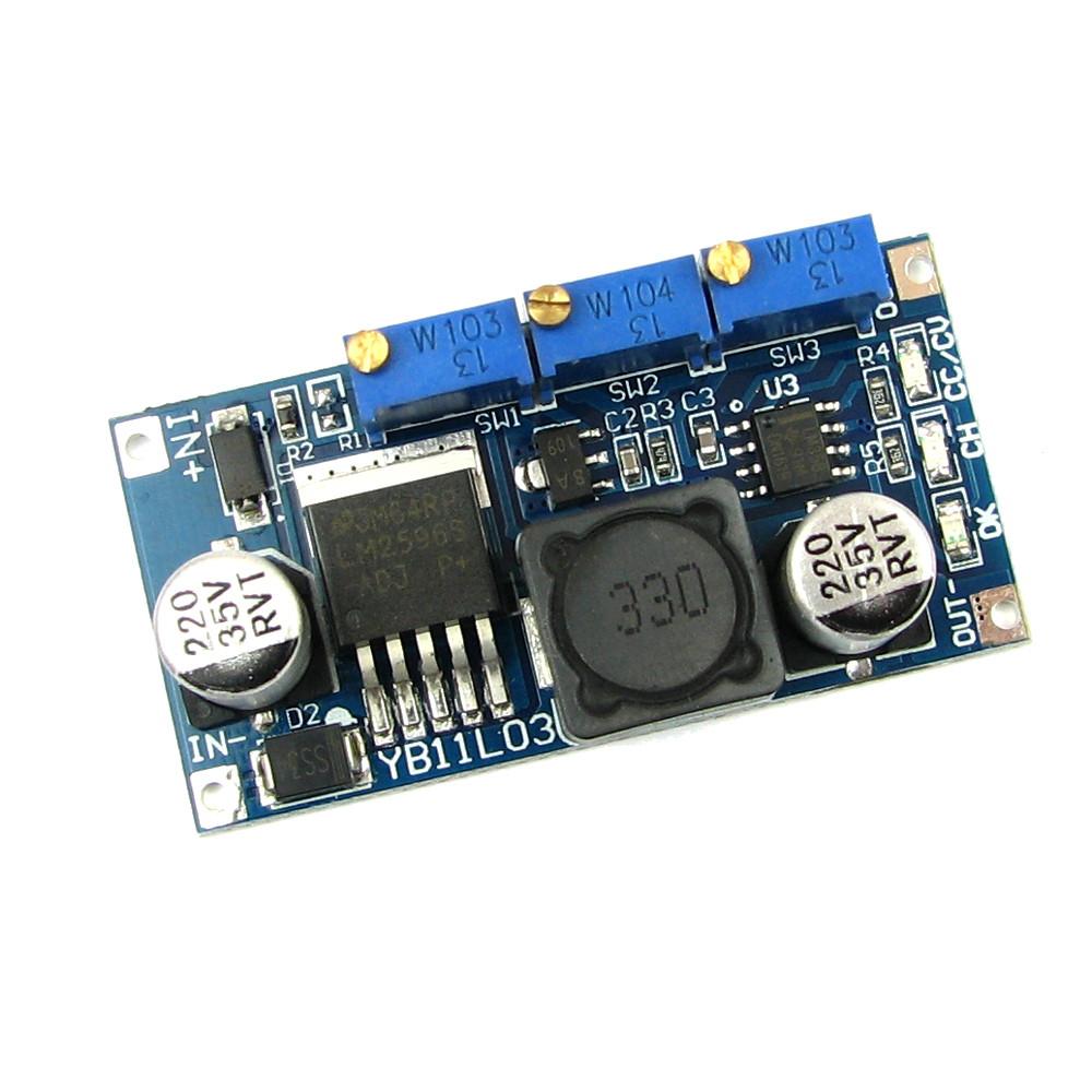 Понижающий преобразователь напряжения с стабилизацией тока DC-DC LM2596S Зарядное аккумуляторов Led драйвер