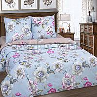 Ткань для постельного белья, поплин (хлопок) Ева основа (голубая ткань)