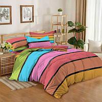 Полуторный комплект постельного белья 150х220 из сатина Весёлый дом