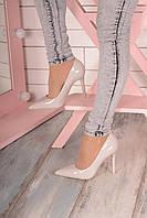 Серые туфли лодочки на каблуке