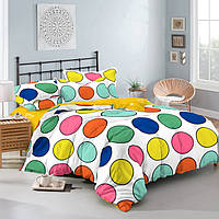 Полуторный комплект постельного белья 150х220 из сатина Твистер