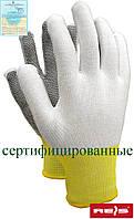 Перчатки рабочие из полиестера с микроточечным покрытием Reis Польша RTENA WB
