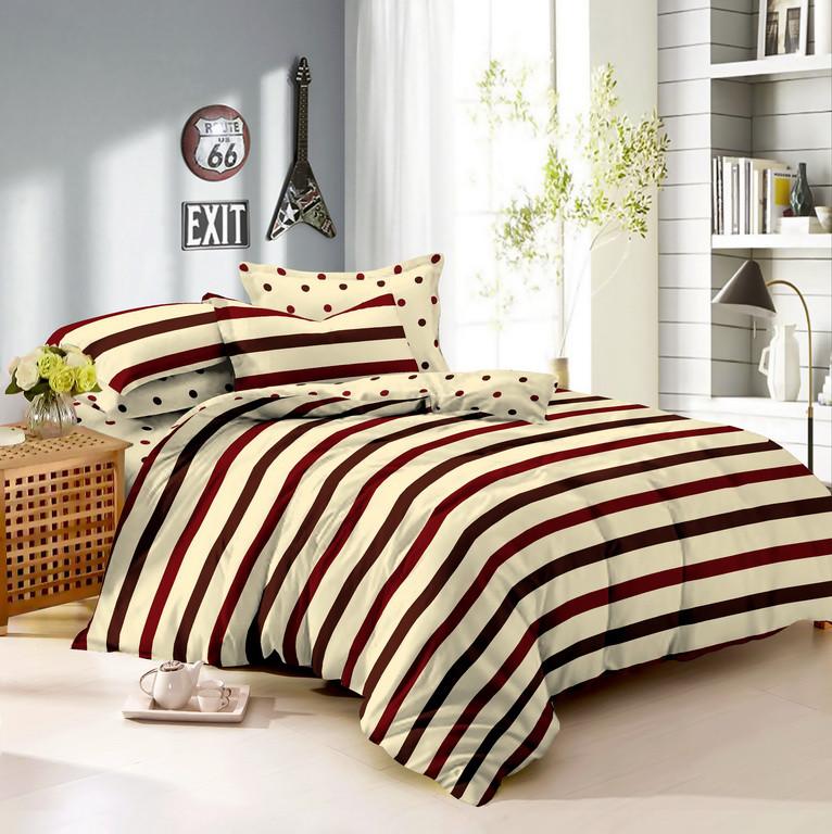 Двуспальный комплект постельного белья 180х220 из сатина Стиль