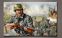 """Картина """"Солдат в бою"""""""