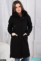 Оригинальное длинное кашемировое пальто