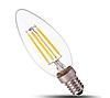 Светодиодная лампа прозрачная Filament 4Вт Е14 C37 2800K FL305 Biom