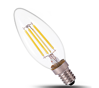 Светодиодная лампа прозрачная Filament 4Вт Е14 C37 2800K FL305 Biom , фото 1