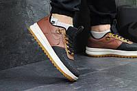 Кроссовки мужские Nike lunar force LF1 черно-коричневые