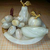 Набор фруктовый из оникса 10см