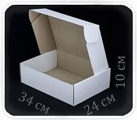 Коробка микрогофрокартон 34х24х10 см (белая)
