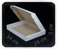 Коробка микрогофрокартон 34х24х5 см (белая)