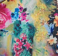 """Ткань  Рип-стоп(Дизайн) сумочная с рисунком """"ПОЛЕВЫЕ ЦВЕТЫ 2003"""""""