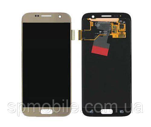 Дисплей Samsung G930 Galaxy S7 з сенсором Золотий Gold оригінал , GH97-18523C