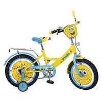 Детский велосипед МУЛЬТ 16Д. SB164 Губка Боб, жёлто-голубой