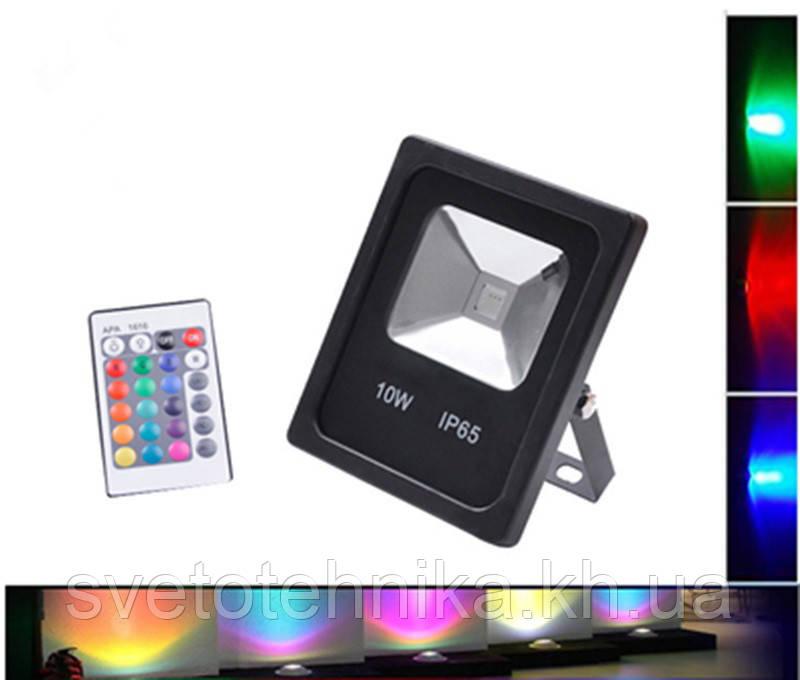 Светодиодный прожектор RGB с дистанционным пультом управления LEDEX 10W