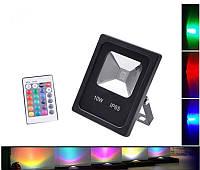 Светодиодный прожектор RGB с дистанционным пультом управления LEDEX 10W, фото 1