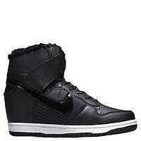 "Сникерсы Nike WMNS Dunk Hight ""Black"" С МЕХОМ Арт. 1766"