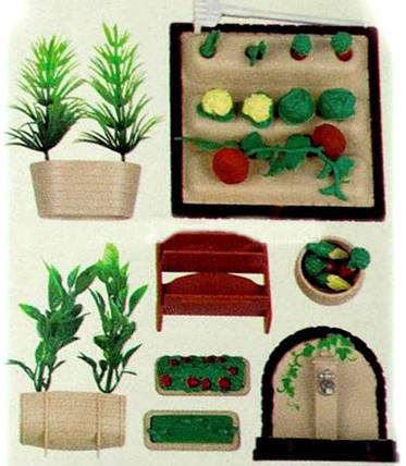 Набор Огород для флоксовых животных Happy Family 012-06B (аналог Sylvanian Families), фото 2