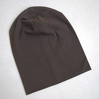 Детская шапка бини. Коричневый. Размеры: 48-50,50-52,52-54,54-56 см.