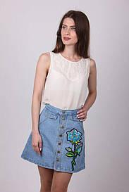 Стильная джинсовая юбка 613