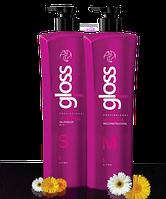 Набор Кератин GLoss Fox Professional для выпрямления волос 2*1000 мл