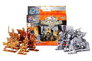 Игровая фигурка «ТехноК» (4272) Набор средневековых воинов, (14 фигурок)
