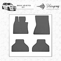Резиновые коврики Stingray для BMW X5 (E70) 07-/X6 (E71) 08 -