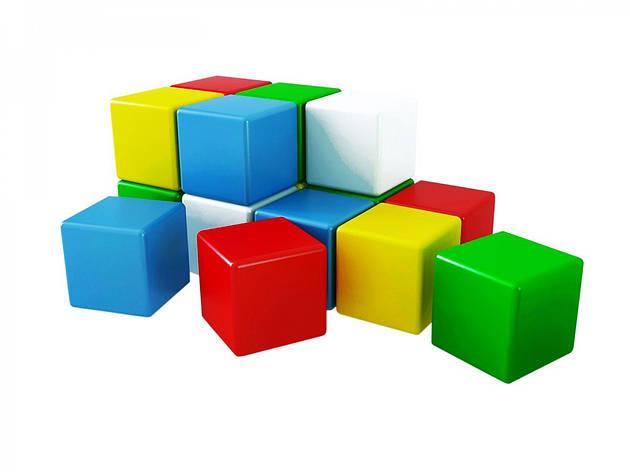 Развивающие и обучающие игрушки «ТехноК» (1691) Набор кубиков Радуга 2, (15 шт.), фото 2