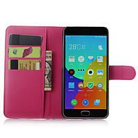 Чехол Meizu M2 Note книжка PU-Кожа розовый