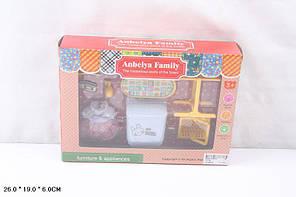 Мебель для флоксовых животных 1513B Happy Family стиральная машина в короб 26*19*6см, фото 3