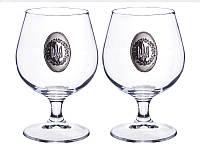 """Мужской набор из 2 бокалов для коньяка Franco """"Герб Украины"""" 316-766"""