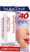 Уход бальзамдля губ Laura Conti с высокой защитой от солнца spf 40
