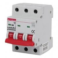 Автоматический выключатель 6A 6kA 3 полюса тип D e.mcb.pro.60.3.D6 p0710019 E.NEXT