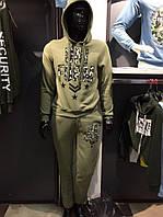 Мужской спортивный костюм на флисе хаки серый UNI FORM Little Secret Турция  оптом f667712d374